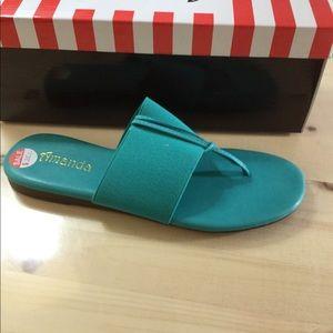 Brand new! Amanda sandals in turquoise